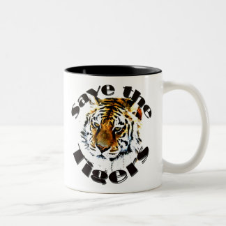 Save the Tigers Two-Tone Coffee Mug