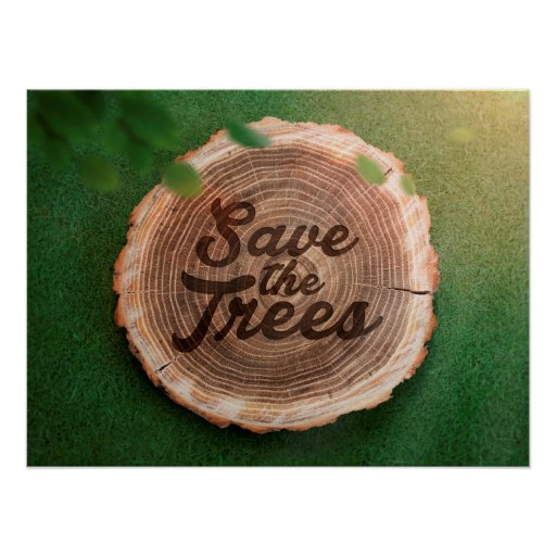 Save the trees Inspirational Poster