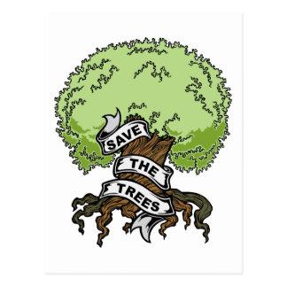 Save The Trees Postcard