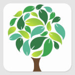 Save the trees square sticker