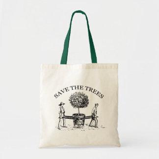 Save the Trees Vintage Illustration Tote Bag