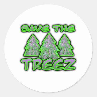 Save the Treez Round Sticker