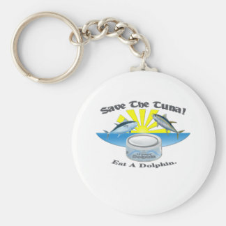 Save The Tuna! Basic Round Button Key Ring