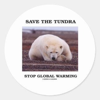 Save The Tundra Stop Global Warming (Polar Bear) Sticker
