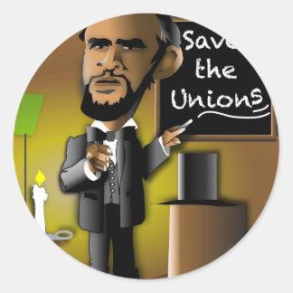 Save The Unions Round Sticker