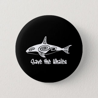 Save the Whales 6 Cm Round Badge