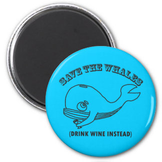 Save The Whales 6 Cm Round Magnet