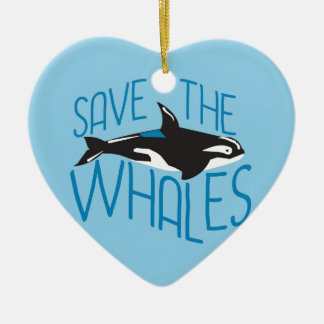 Save the Whales Christmas Ornament