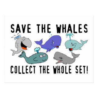 Save The Whales Collect The Whole Set Postcard