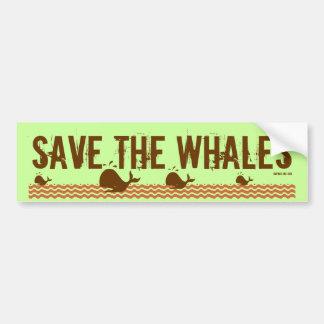 Save The Whales - Environmentally Conscious Bumper Sticker