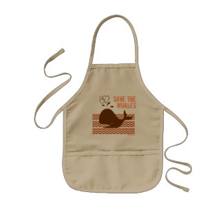 Save The Whales - Environmentally Conscious Kids Apron