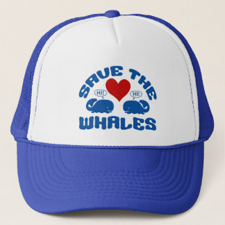 SAVE THE WHALES hat