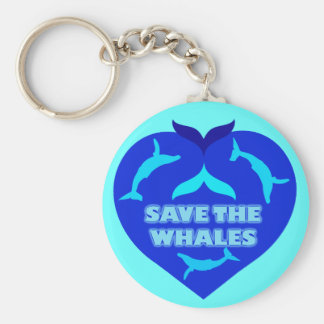 SAVE THE WHALES KEY CHAIN