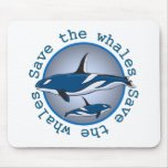 Save the Whales Mouse Mats