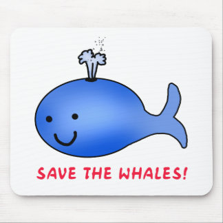 Save the Whales! Mouse Pad