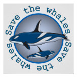 Save the Whales Print