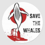 Save the Whales Round Stickers