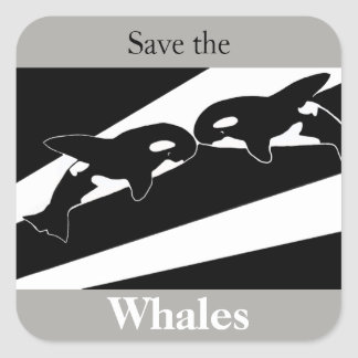 Save the Whales Square Sticker