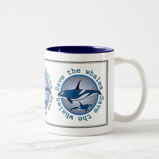 Save the Whales Two-Tone Mug