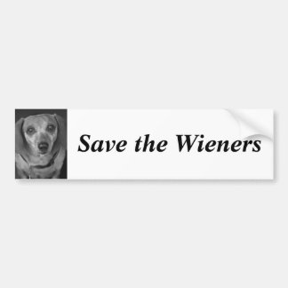 Save the Wieners Bumper Sticker