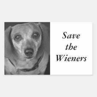 Save the Wieners Rectangular Sticker