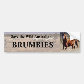 Save The Wild Australian Brumbies Bumper Sticker
