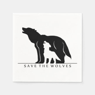 Save the Wolves Disposable Napkin