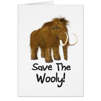 Save The Wooly Wooly Mammoth Card