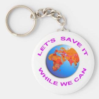 Save the World Key Chain