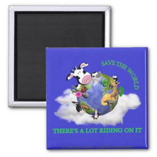 Save The World Fridge Magnets