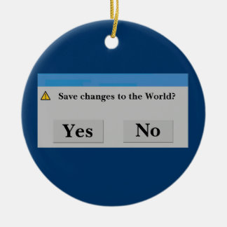 Save the World Ornament