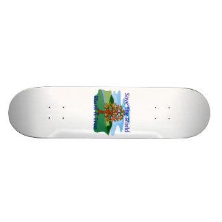 Save The World Plant A Tree 20 Cm Skateboard Deck
