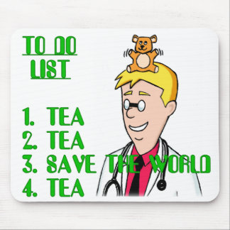 Save The World With Tea To Do List Mouse Mat