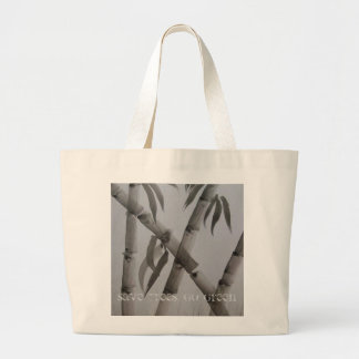 save trees, go green tote canvas bags