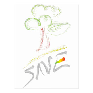 Save! Trees!! Postcard