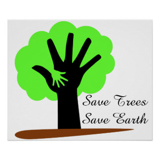 Save trees save earth poster