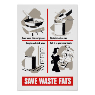 Save Waste Fats Print