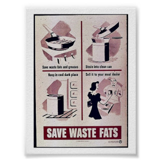 Save Waste Fats Posters