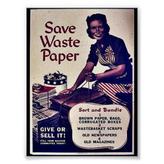 Save Waste Paper Posters