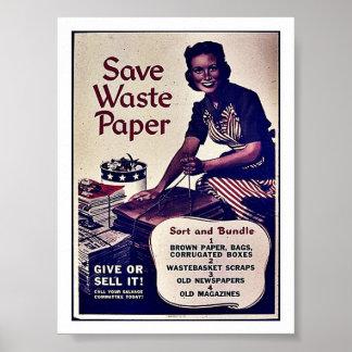 Save Waste Paper Print