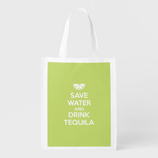 Save Water and Drink Tequila Reusable Grocery Bag