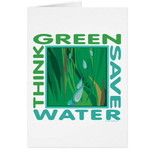 Save Water Greeting Cards