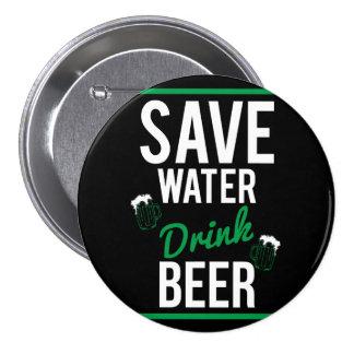Save water Drink beer 7.5 Cm Round Badge