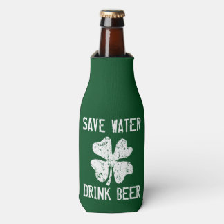 Save water drink beer Funny St Patricks Day holder