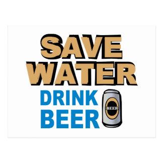 Save Water Drink Beer Postcard