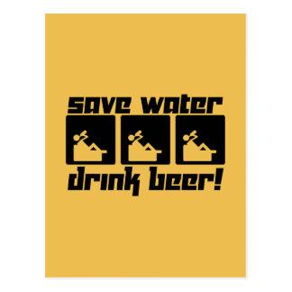Save Water Drink Beer! Postcard