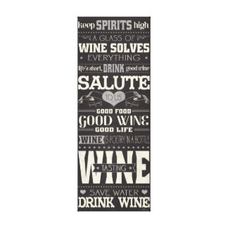Save Water Drink Wine Canvas Print