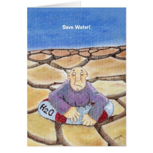 Save Water Earth Day Cards
