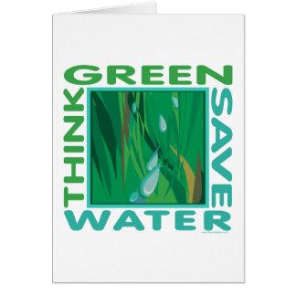 Save Water Greeting Card