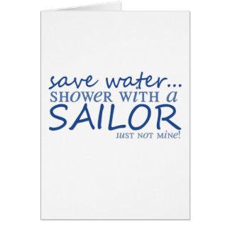 Save Water... Greeting Card